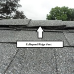 Collapsed ridge vent