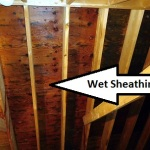 wet attic sheathing